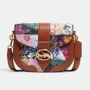 ⚜Coach Georgie Saddle Bag With Patchwork